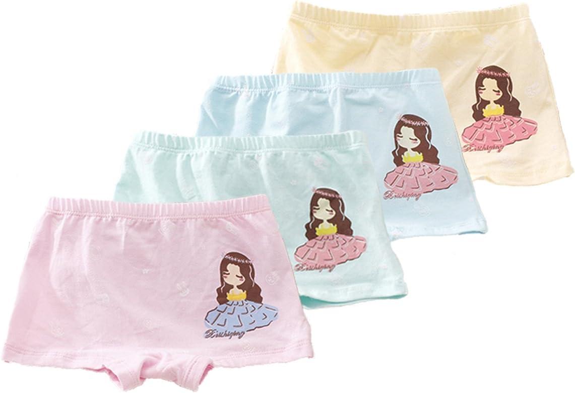 FAIRYRAIN Little Girls Kids Baby Toddler 4Pcs Beauty Girl Boyshort Underwear Boxers Briefs Panties