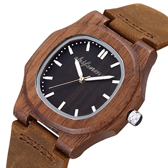 HWCOO Hermosos Relojes De Madera SHIFENMEI Zebra Wood Table Reloj de Pulsera de Cuarzo de Madera Reloj de Mujer (Color : 2): Amazon.es: Relojes