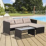 Best Outsunny Sofa Sets - Outsunny 3pcs Outdoor Rattan Wicker Sofa and Chaise Review