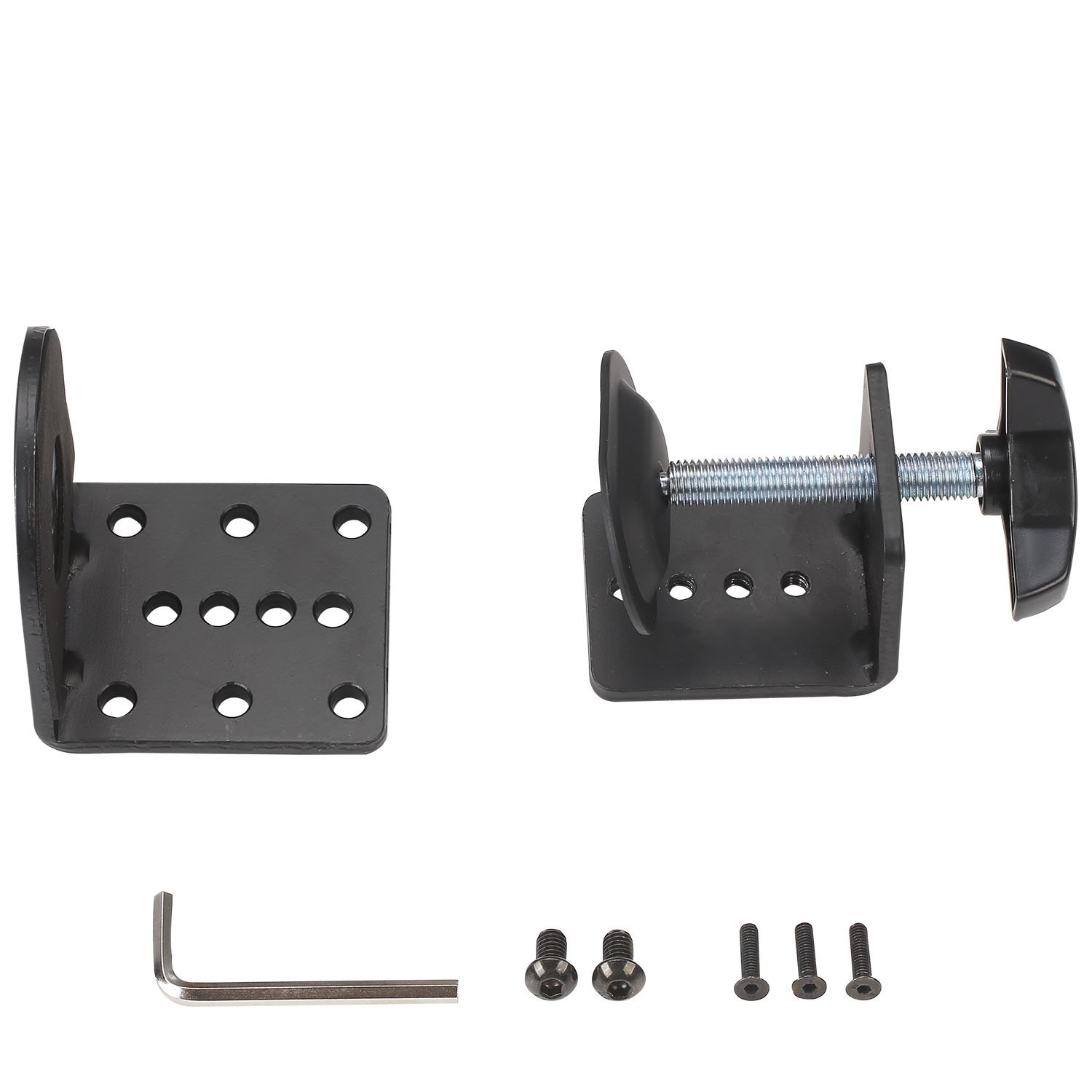 WALI C-Clamp Base Stand Mounting for WALI Monitor Mount Workstation System (C-CLAMP), Black