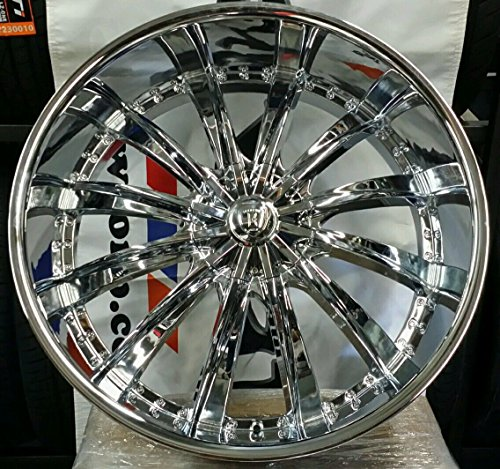 26″ INCH BORGHINI BW19 CHROME RIMS WHEELS & TIRE PACKAGE 6X139/6X135 WILL FIT CHEVY TAHOE SILVERADO GMC YUKON SIERRA CADILLAC ESCALADE NISSAN TITAN ARMADA INFINITI QX56 FORD F-150 EXPEDITION LINCOLN NAVIGATOR MARK LT