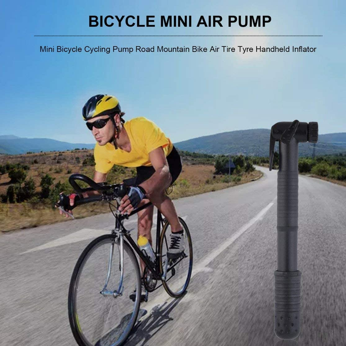 Mini portable pump Cycling mountain bike Air Pump Inflator Double stroke design