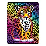 Lisa Frank A3234C Haute Hunter Micro Raschel Throw