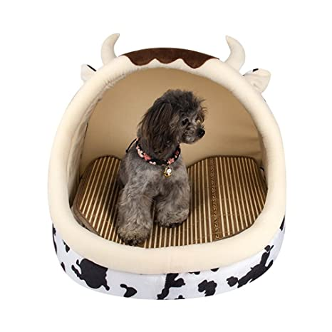 Lh Pet Cat Nest Kennel Verano Cool Mat Nest extraíble Cat Saco de Dormir Summer Cat