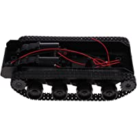 HOMYL Lightweight Shock Absorbed RC Tank Car Chassis Kit Track Crawler w/Motor for DIY Robot Mechanism Scientific Educational Toy