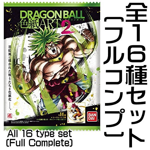 Dragon Ball - Illustration board Shikishi ART2 - Complete Full Set ( All 16 type set) by Bandai