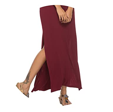 fc89a5f19e65 Casual Long Dress Elegant Robe Split Strap Off Shoulder Dresses ...