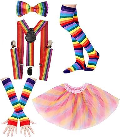 qiulip - Falda de tutú para disfraz de fiesta de los años 80 ...