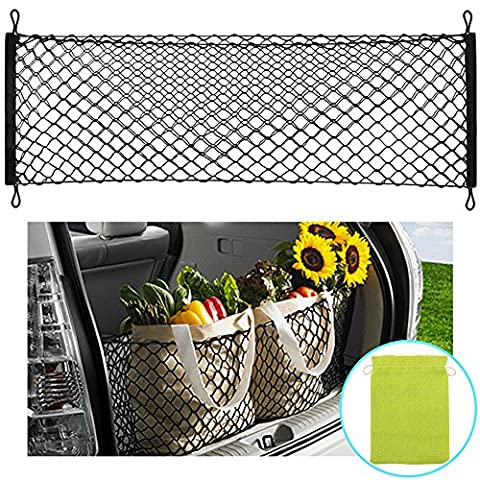 AndyGo Rear Cargo Trunk Storage Organizer Net for Car plus mounting points - Cars Exterior Accessories