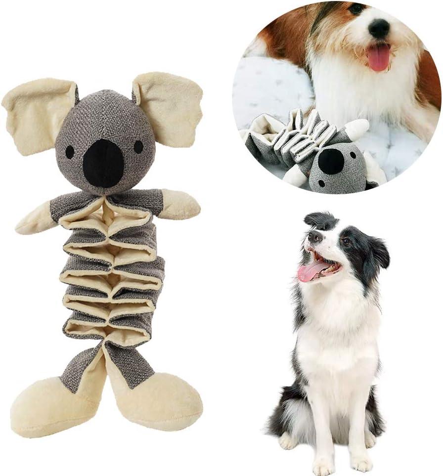 Eastlion Juguetes con Sonido para Perros,Seguro Duradero Juguetes para morder Juguetes de Peluche Limpieza Dental Formación para Perros pequeños y medianos(Coala)
