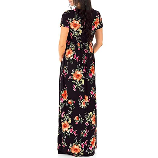 ALIKEEY Enfermeria En Mujeres Embarazadas Embarazo Impresion Floral Vestido Largo Vestido De Maternidad Ahora Que Bordo Homologado Lumbar Postparto ...