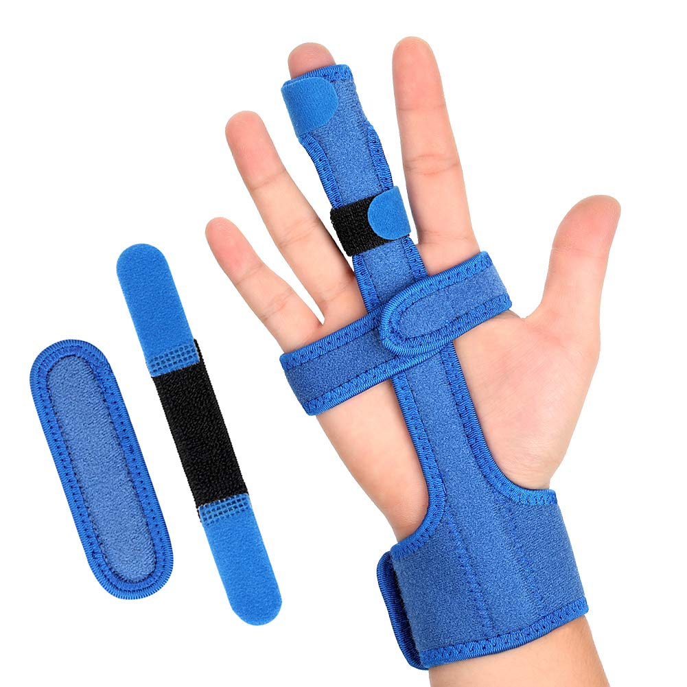 Amazon.com: Finger Splint for Middle Finger Dislocated Broken Thumb Index  Ring Pinky Finger, Adjustable Aluminium Support for Extension Straightening  ...
