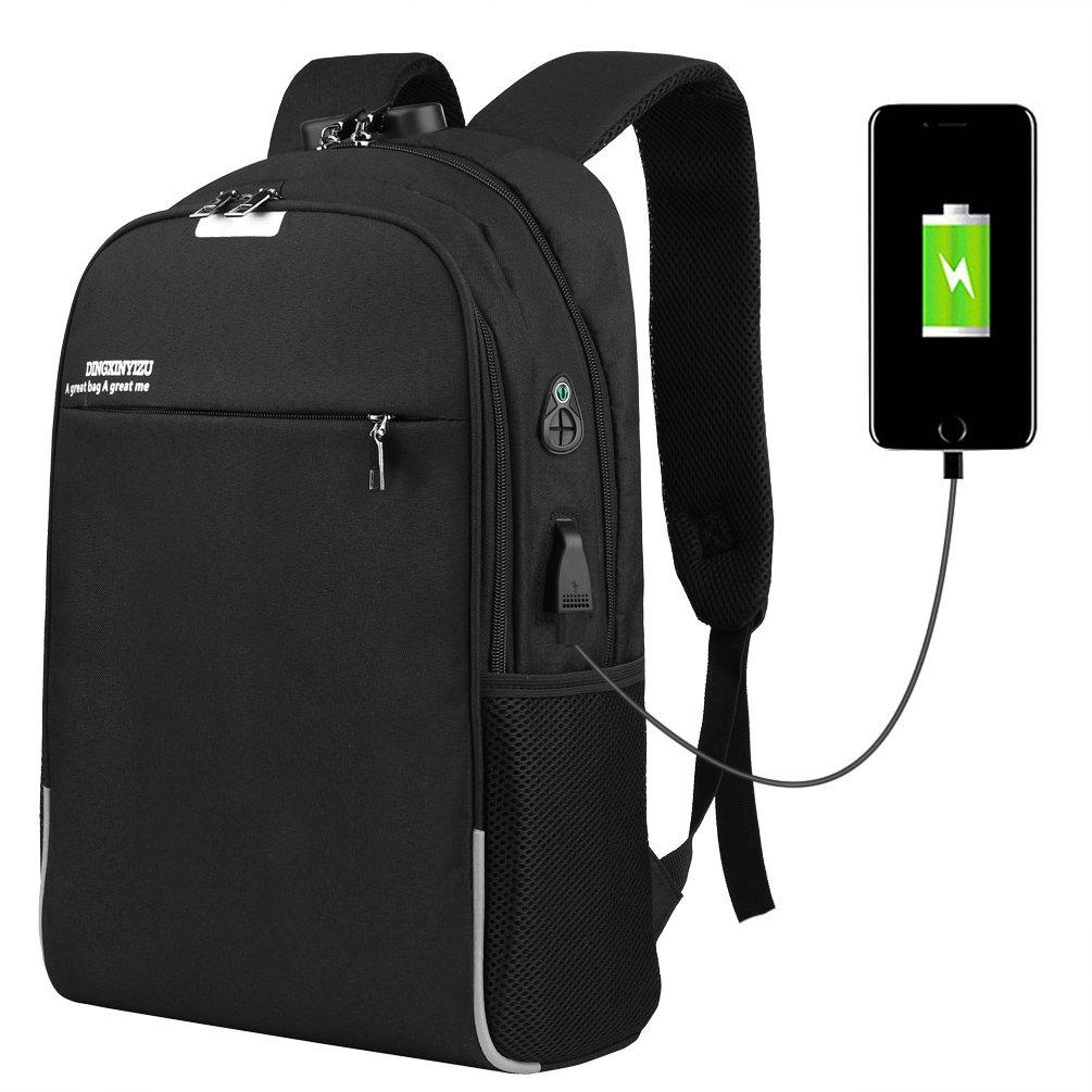 Vbiger Mochila Antirrobo para Ordenador Impermeable de Carga del USB 15.6 ''