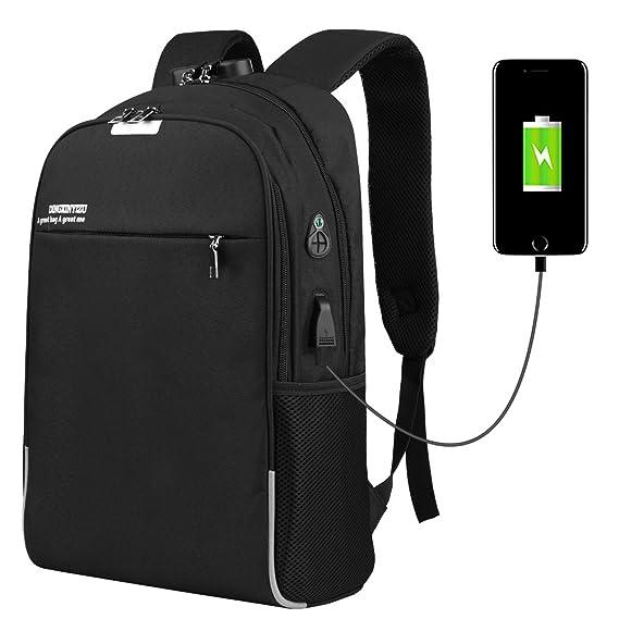 Vbiger Mochila Antirrobo para Ordenador Impermeable de Carga del USB 15.6 : Amazon.es: Equipaje