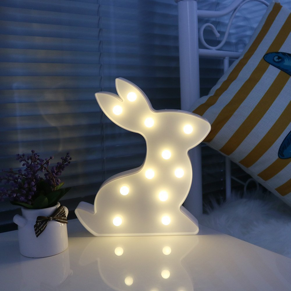 missleyユニコーンLED Romantic Atmosphere LEDナイトライト結婚式誕生日デコレーションLED夜間ライト Missley B078JLBH6T Rabbit-white Rabbitwhite