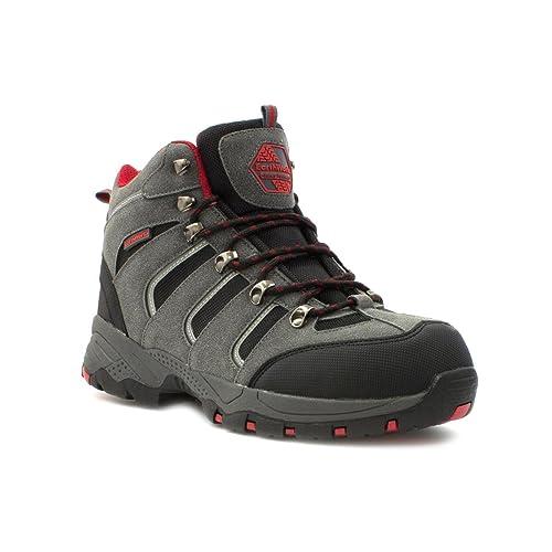 Earth Works Safety - Zapato de seguridad, acordonado, negro y azul, para hombre EarthWorks - Talla 10 UK / 44.5 EU - Negro