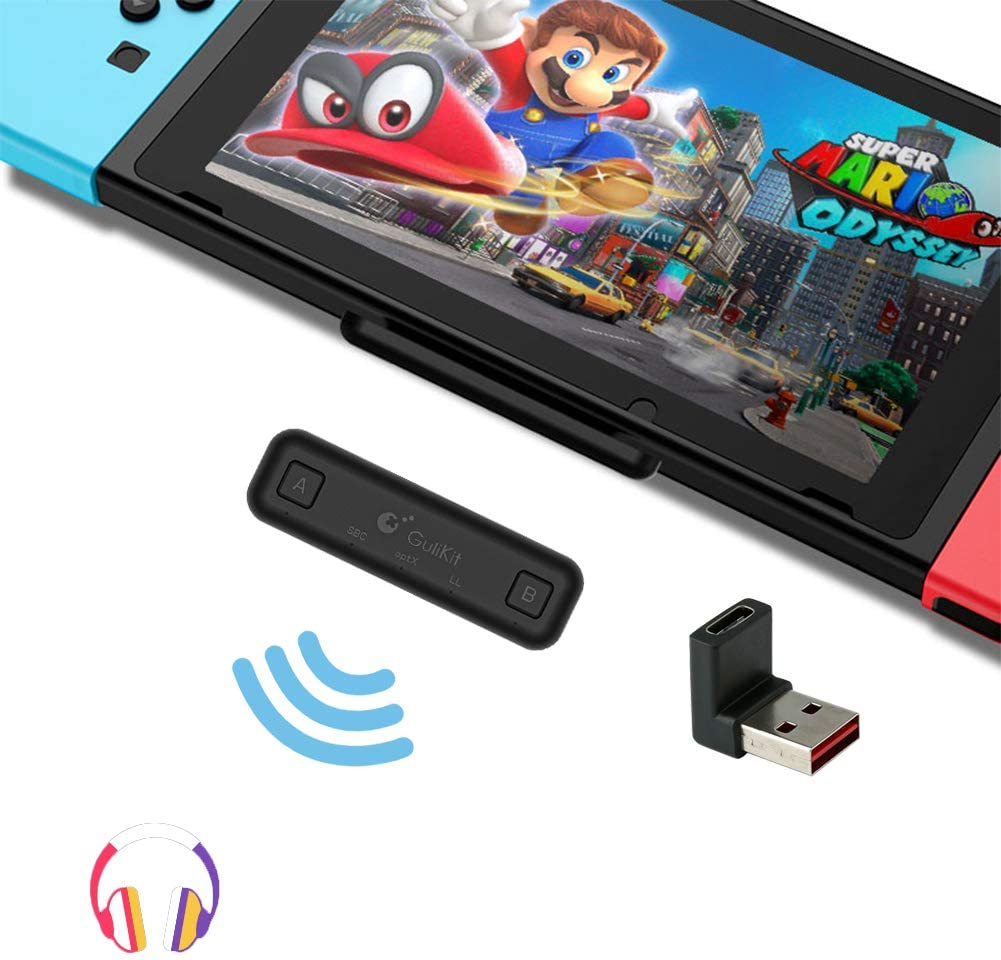 Amazon Com Gulikit Route Air Bluetooth Adapter For Nintendo Switch Switch Lite Dual Stream Bluetooth Wireless Audio Transmitter With Aptx Low Latency Connect Your Airpods Bluetooth Speakers Headphones Home Audio Theater