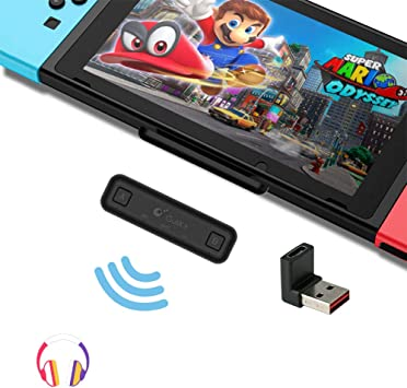 GULIkit Adaptador de Audio Bluetooth para Nintendo Switch/Switch Lite PS4 Macbook PC, Route Air, aptX de Baja Latencia, Negro Negra: Amazon.es: Electrónica