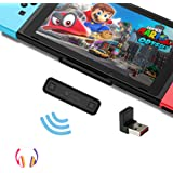 GuliKit Route Air Bluetooth Adapter for Nintendo Switch/Switch Lite, Dual Stream Bluetooth Wireless Audio Transmitter with aptX Low Latency Connect Your AirPods Bluetooth Speakers Headphones