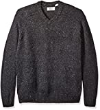 Original Penguin Men's Big and Tall Raglan Donegal Sweater, Dark Charcoal Heather, X-Large/Tall