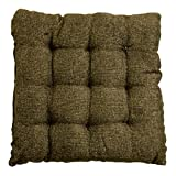 Story@Home Square Jute Chair Pad - 14'x14', Wood Brown