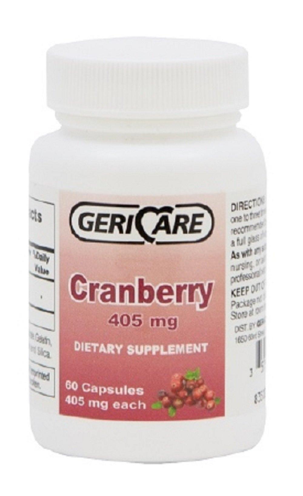 McKesson Brand - Cranberry Supplement - 405 mg Strength - Caplet - 60 per Bottle - 12/Case