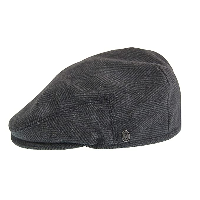 14e112c38e0 Jaxon   James Herringbone Flat Cap - Charcoal  Amazon.co.uk  Clothing
