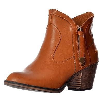 62403b283c67 Rocket Dog Women s Ladies Sidney Bromley Western Block Heel Ankle Boot -  Black