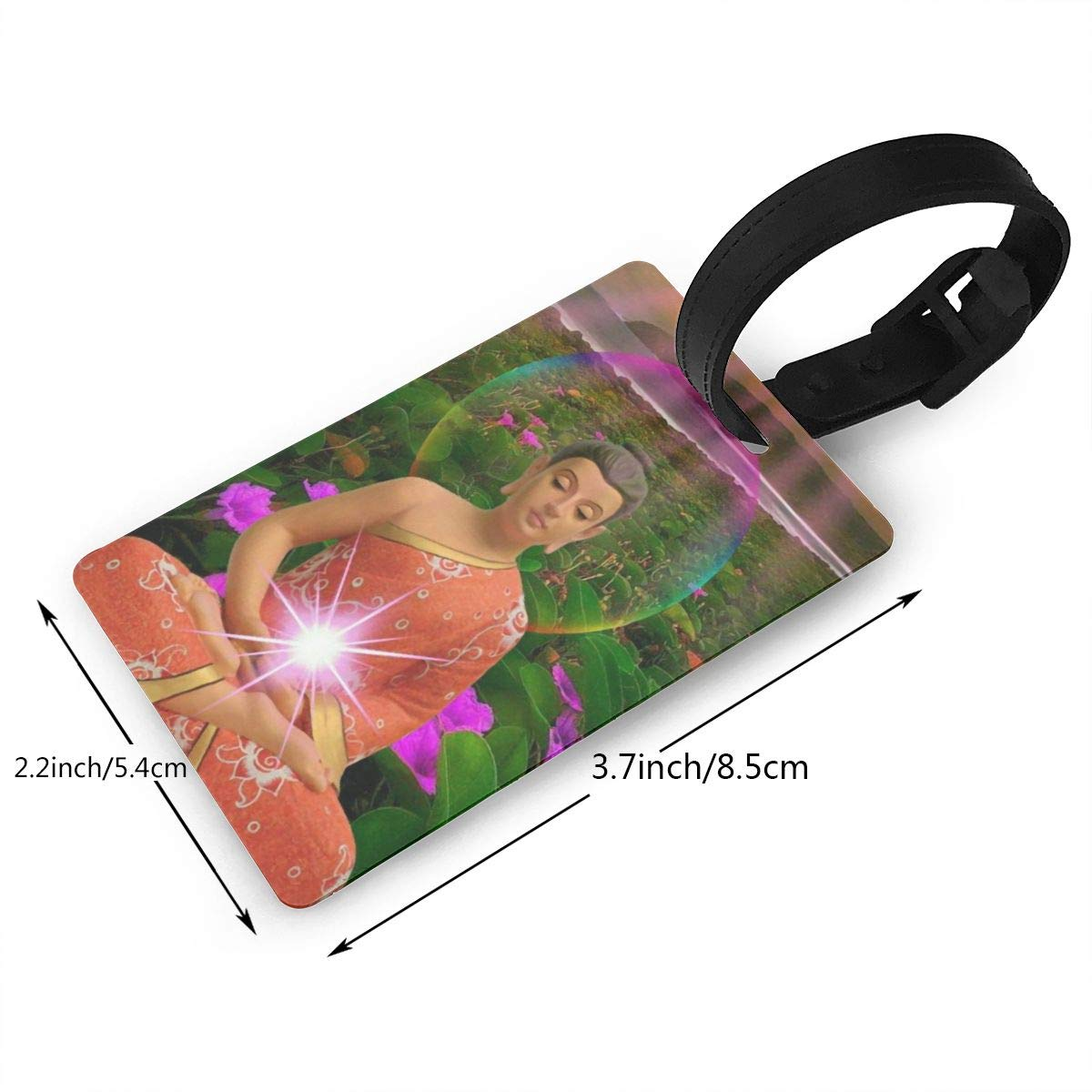 2 Pack Luggage Tags Buddhism Handbag Tag For Travel Bag Suitcase Accessories