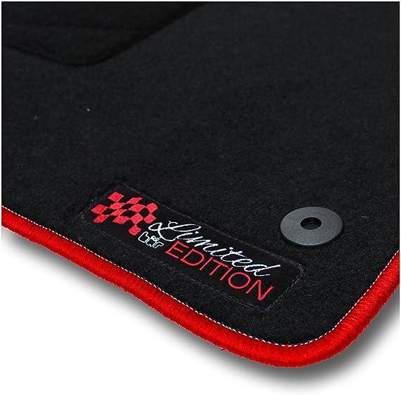 Bär Afc Fo05439 Limited Edition Auto Fußmatten Nadelvlies Schwarz Rand Kettelung Rot Stick Logo Rot Set 4 Teilig Passgenau Für Modell Siehe Details Auto