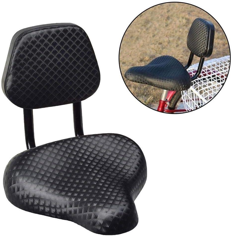 WZ YDTH Sillín de Bicicleta, sillones de Bicicleta de Carretera Anchos y cómodos, Asiento de sillín de Bicicleta de Bicicleta de Cuero sintético Ancho con Soporte de Respaldo