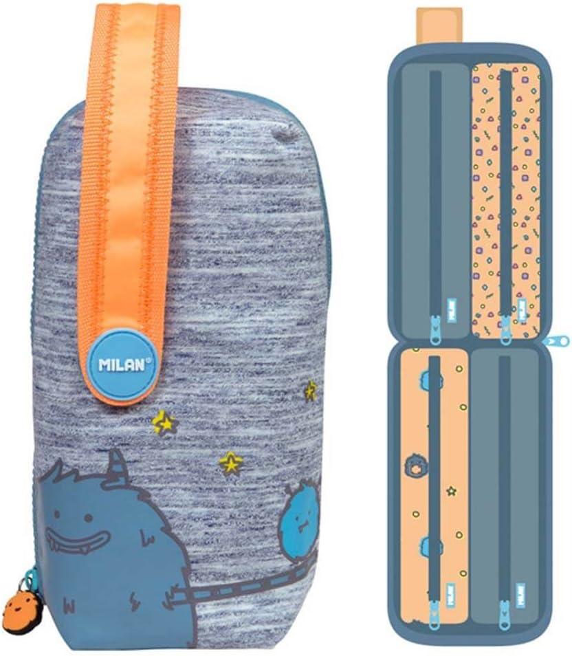 Kit 4 Estuches Con Contenido Mimo Naranja Milan 08872mio: Amazon.es: Oficina y papelería