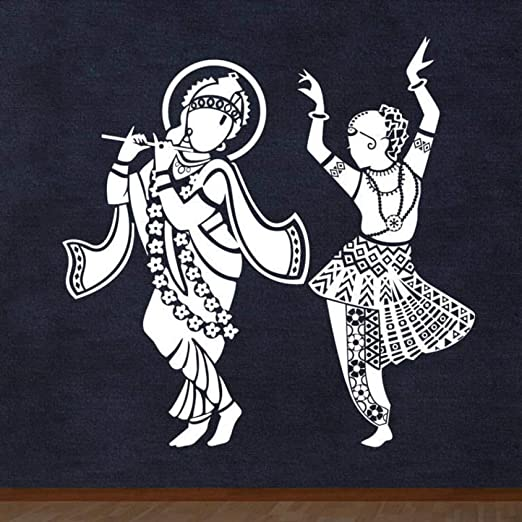 jiuyaomai Radha Krishna Dios hindú decoración Tatuajes de Pared ...