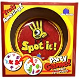 MagikStar Spot it! Red and Yellow 55 card 5 in 1 Educational Family Fun Party Card Game Up To 8 Players