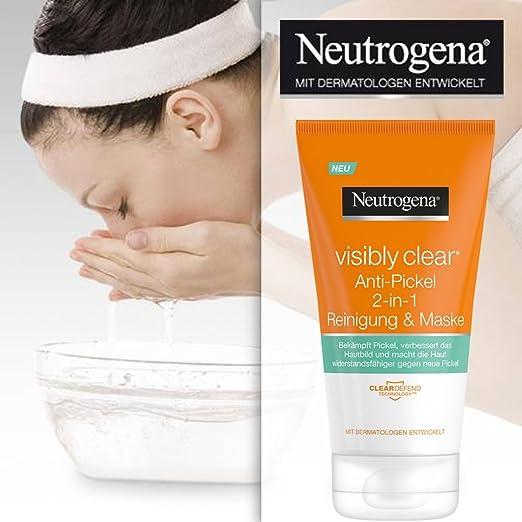 Neutrogena Visibly Clear 2 en 1 Limpiadora Y Máscara - 2 Unidades x 150 ml.