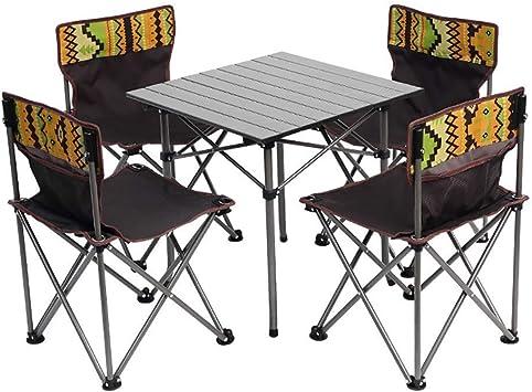 WZC Silla de mesa de camping, silla de mesa plegable ligera, marco ...