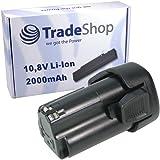 Trade Boutique Premium Batterie Li-Ion 10,8V/2000mAh Remplace Black & Decker BL-13101510BL BL-12lbx-4Accessoire de 121110Montre de 12lbxr pour EGBL-108EGBL 108kb gkc-106108HPL HPL-10rs 10im HPL LDX-112LDX 112C PSL de 12