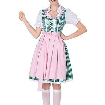 Disfraz de fiesta de Oktoberfest para mujer, vestido de encaje ...