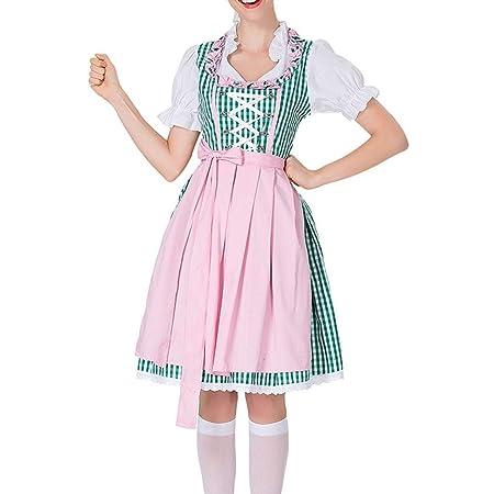 Vestido de mujer para Oktoberfest de Ufodb, vestido tirolés ...