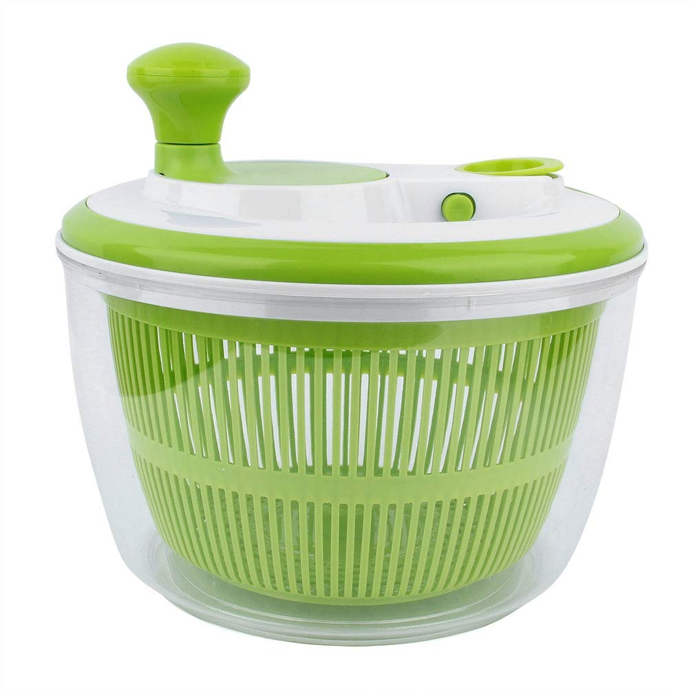 Salad Spinner Household Plastic Vegetable Fruit Washer Dryer Strainer Kitchen Washing Tool by TOPINCN