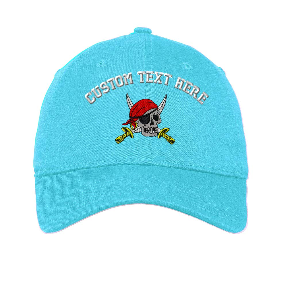 Pirate With Sabers Embroidered Soft Low Profile Hat
