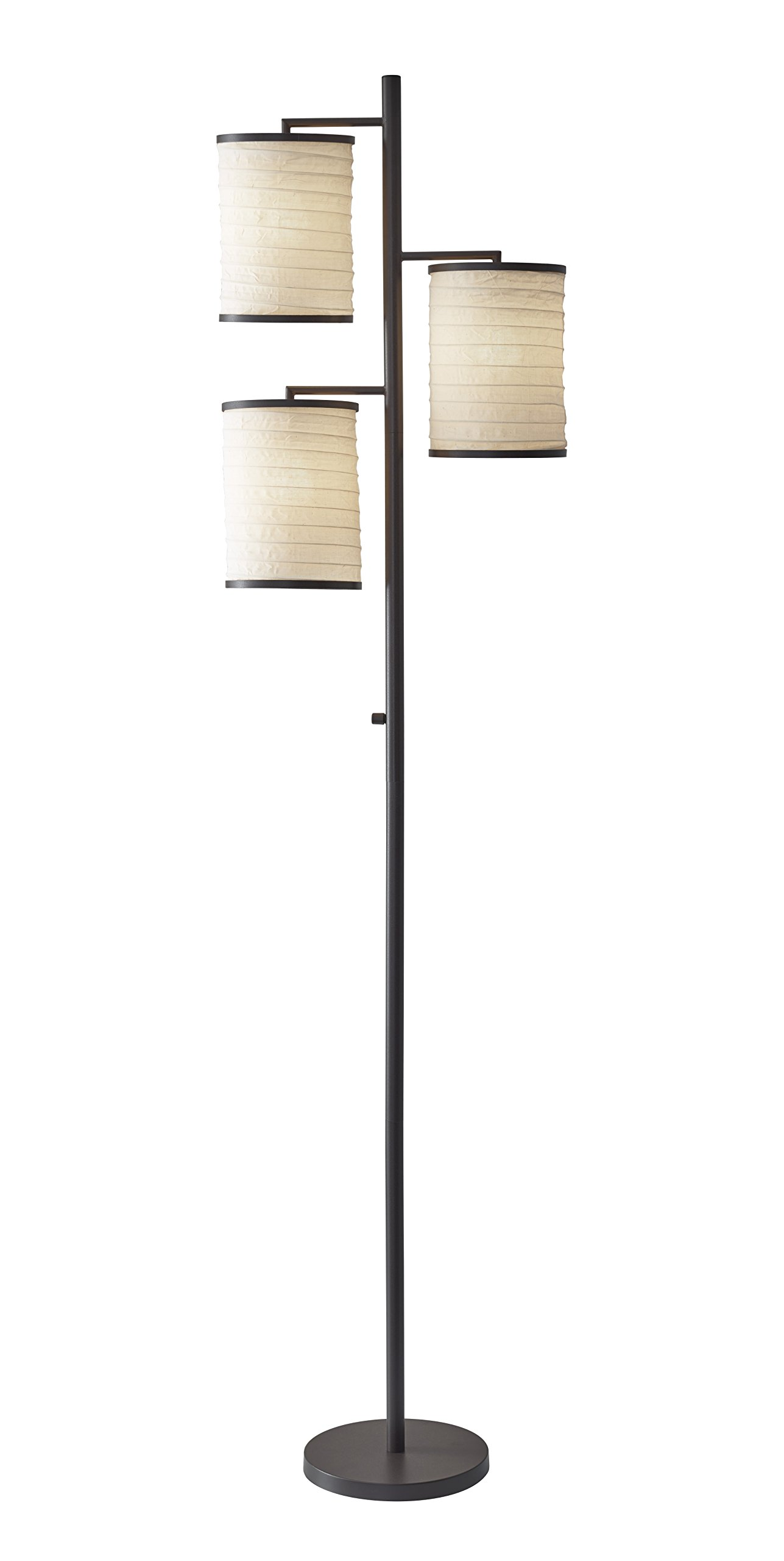 Adesso 4152-26 Bellows 74 In. Tree Lamp - Decorative Lighting Fixture with 3 Lights, Smart Outlet Compatible Lamp. Home Improvement Accessories by Adesso