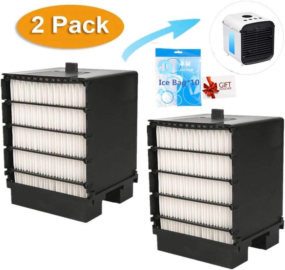 Nifogo Filtro Aire Acondicionado, Air Mini Cooler Filtro, Portátil Enfriador Filtro, Filter de Repuesto para Mini Climatización Fan (2 Pcs + 10 Bolsa de Hielo): Amazon.es: Hogar