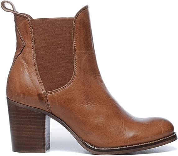 Sacha Chelsea Boots mit Blockabsatz schwarz
