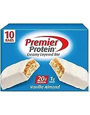 Premier Protein 20g Protein bar, Vanilla Almond, 2.08 Oz, (10Count)