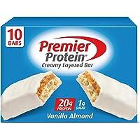 10-Count Premier Protein 20g 2.08 Oz Protein Bar, Vanilla Almond