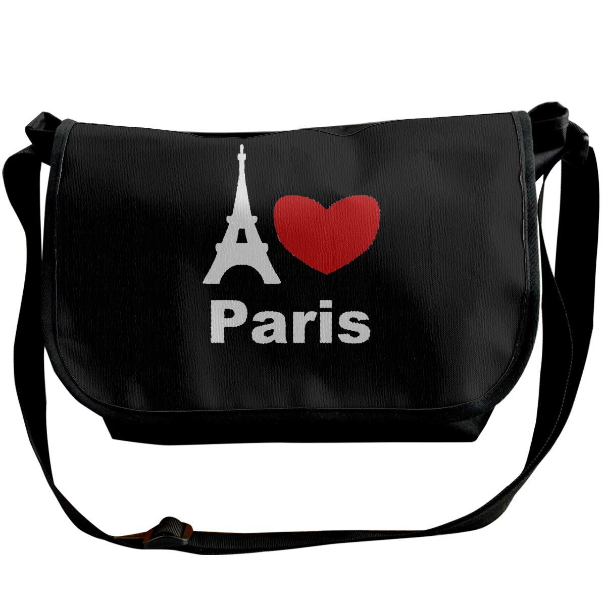 Futong Huaxia I Love Paris Travel Messenger Bags Handbag Shoulder Bag Crossbody Bag Unisex