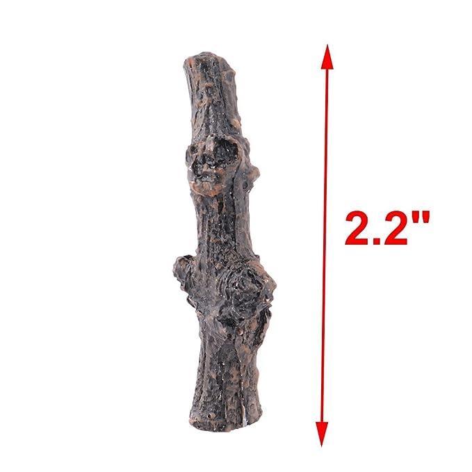 Amazon.com: eDealMax hogar de la resina del jardín Diseño Ramas Tabla del escritorio de la decoración del Modelo del paisaje 3 piezas Negro: Home & Kitchen