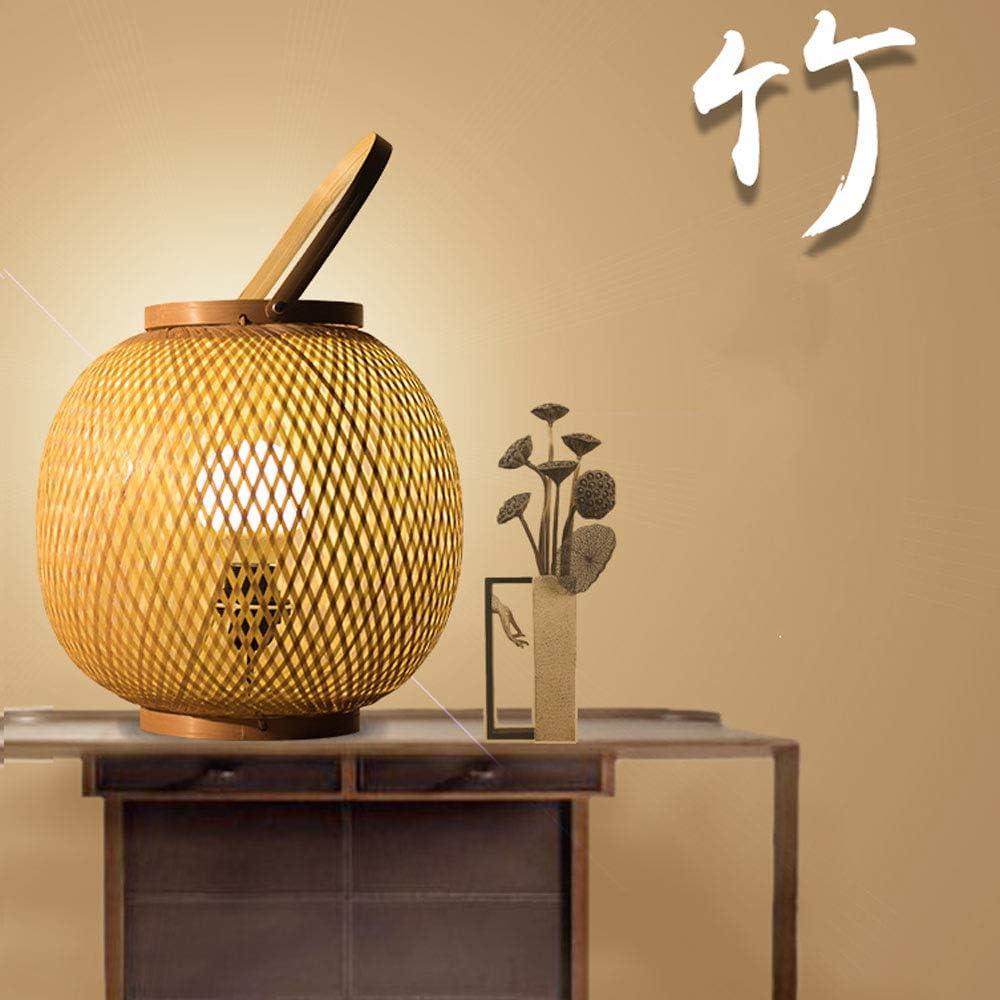 YZPTD Lampada da tavolo cinese bambù arte giardino di bambù