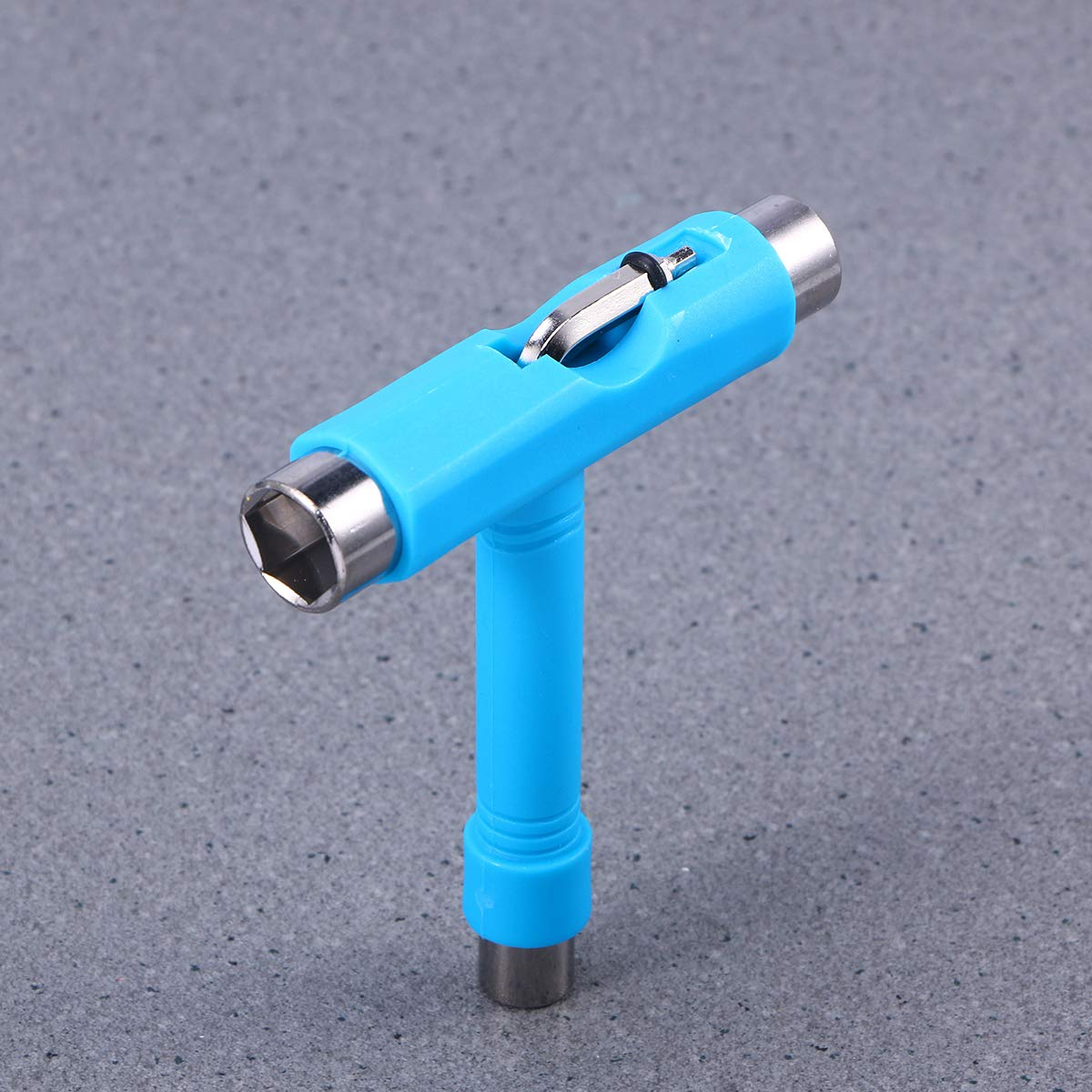 Azul VORCOOL Mini T Type Wrench Tool Roller Skateboard Repair Tool Herramienta de Ajuste con L Wrench L-Type Screwdriver